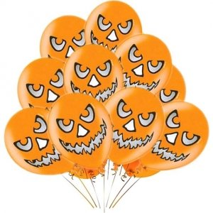 Воздушные шары Вечеринка Хэллоуин оранжовый