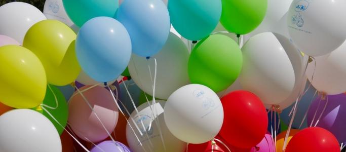 Как сделать фонтан из шаров