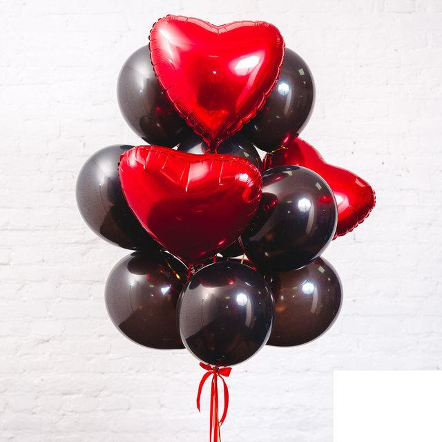 Композиция шоколадные сердца