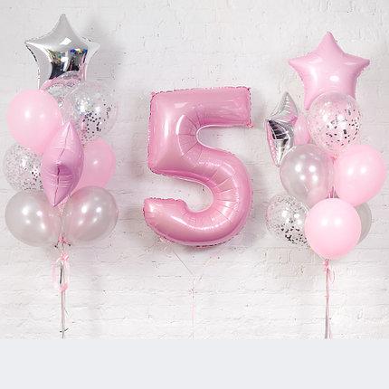 Композиция шаров на 5-летие для девочки
