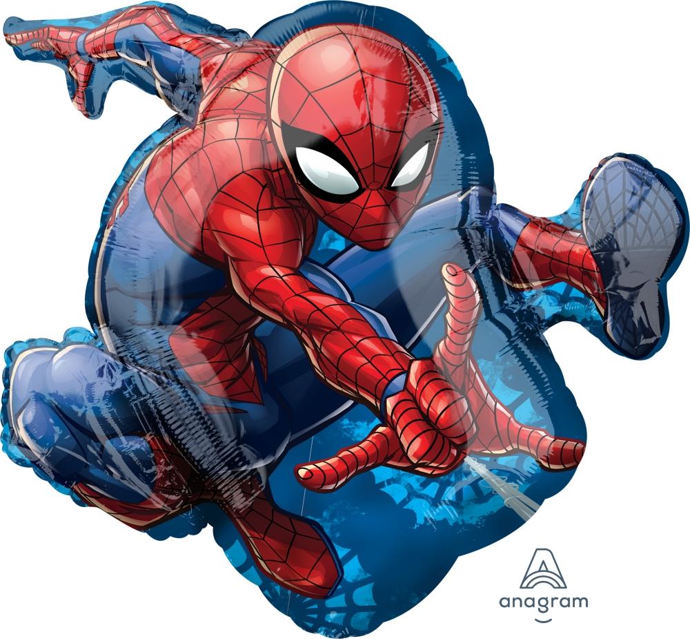 Фольгированный шарик Человек паук в прыжке
