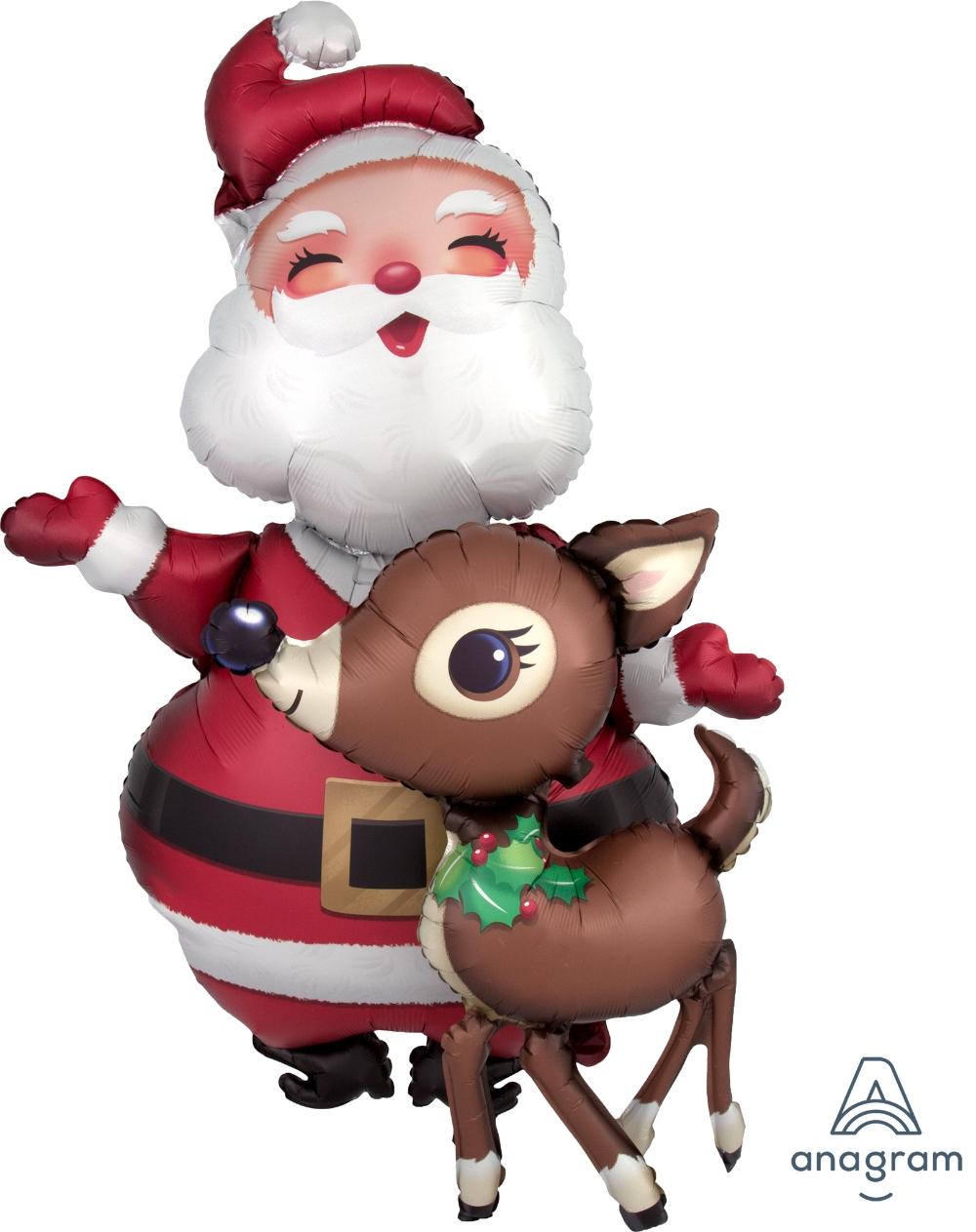 Ходячий шарик Санта и Олень