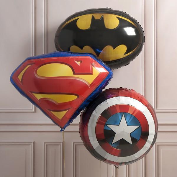 Связка фольгированных шариков Все герои вместе