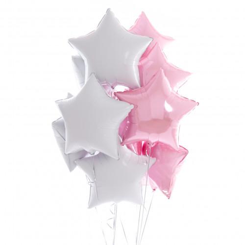 Звездная нежность для девочки из 10 шаров