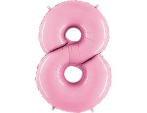 Цифра 8 розовая пастель