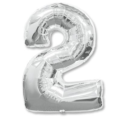 Цифра 2 серебрянная