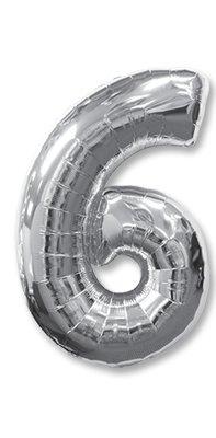 Цифра 6 серебрянная