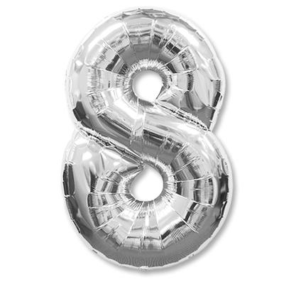 Цифра 8 серебрянная