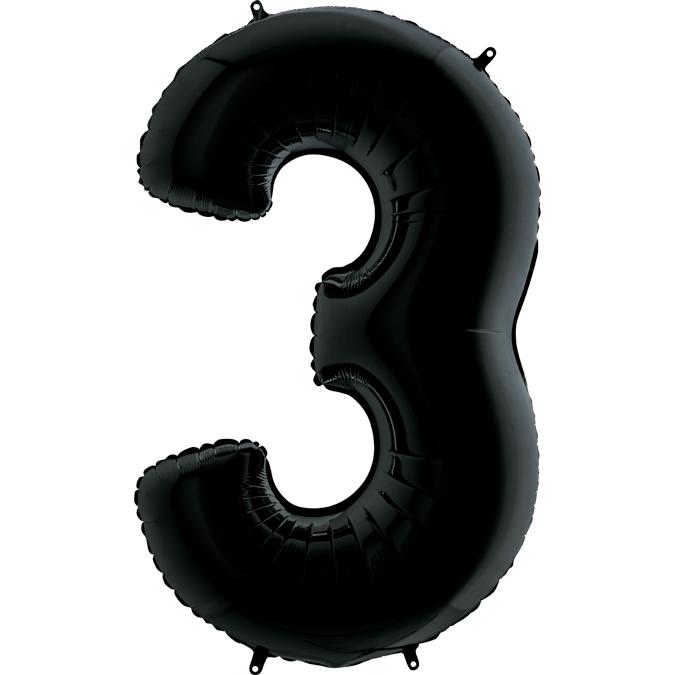 Цифра 3 черная
