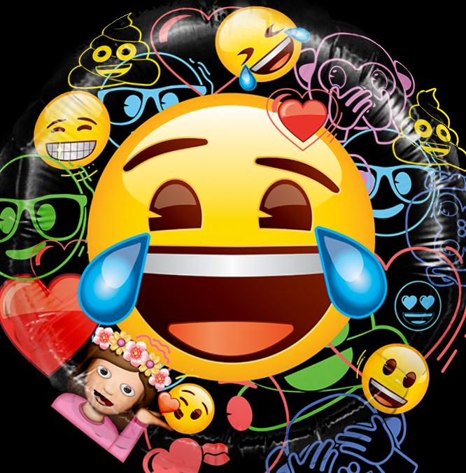 Шар Круг, Смайл, Emoji, Черный.