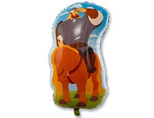 Гелиевый шарик Три Богатыря Илья на коне