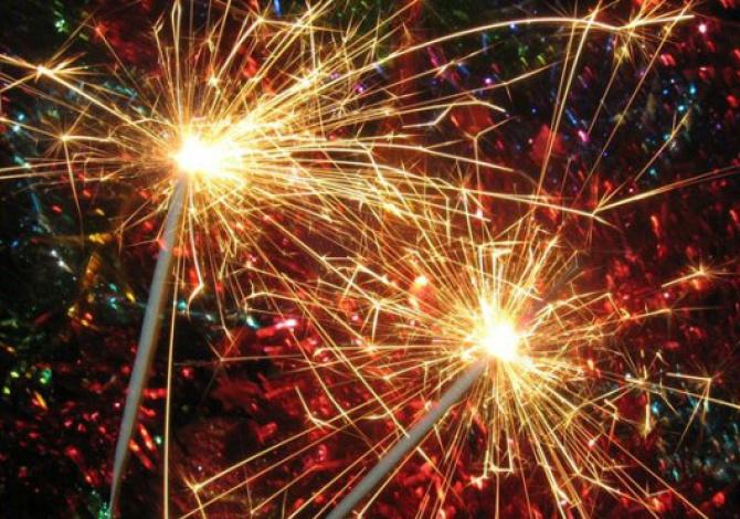 Свеча Бенгальский Огонь на Новый Год, 25 см, 8 шт.