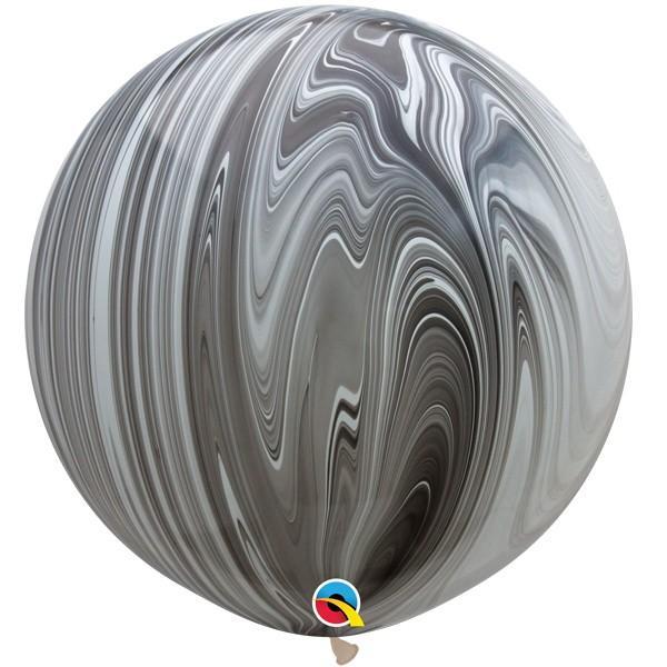 Гелиевый шар Супер Агат Black White