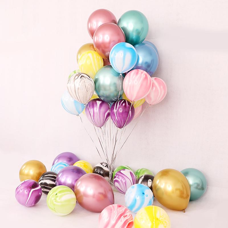 Композиция из 20 гелиевых шариков Микс Хром с Агатом