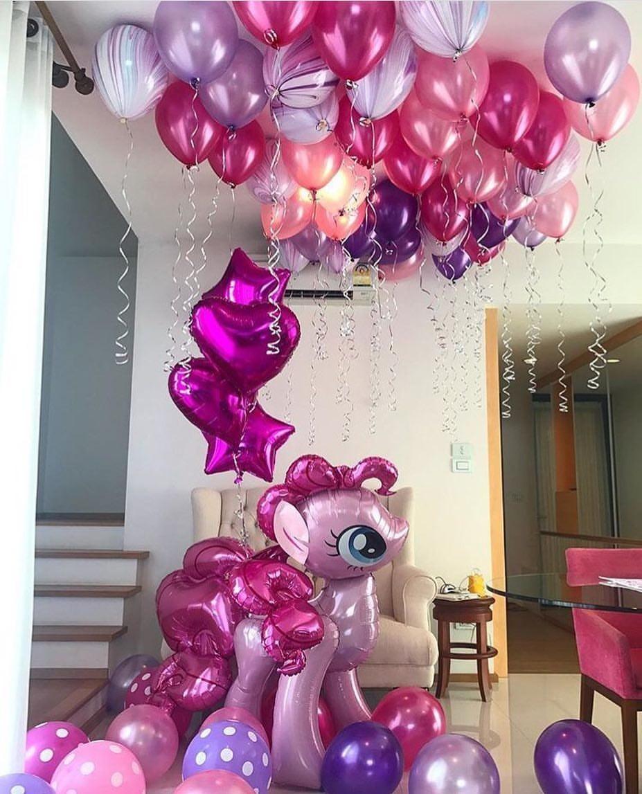 Готовые решения из гелиевых шаров «My Little Pony»