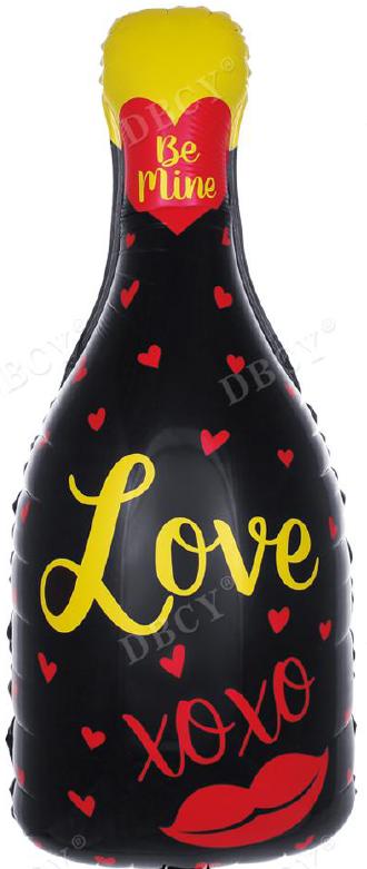 "Шар Фигура, Бутылка шампанского ""Love"""