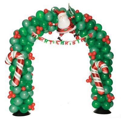 Арка из шаров Счастливый Санта