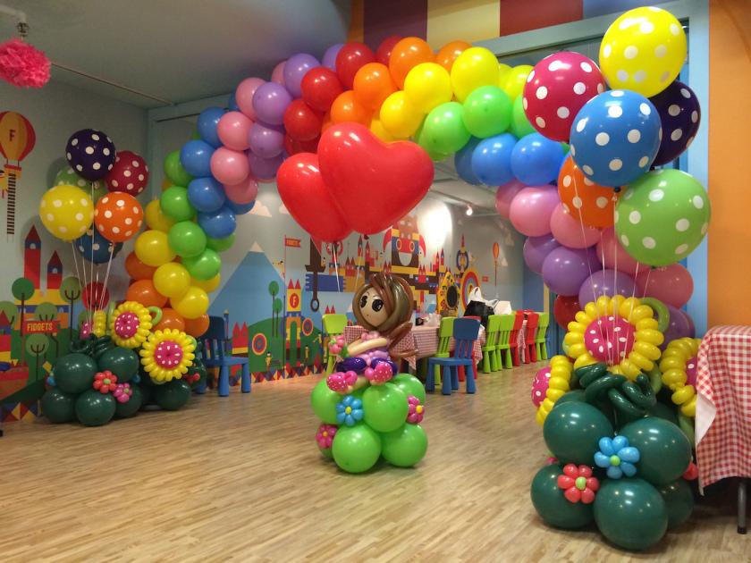 Арка из шаров Цветное настроение