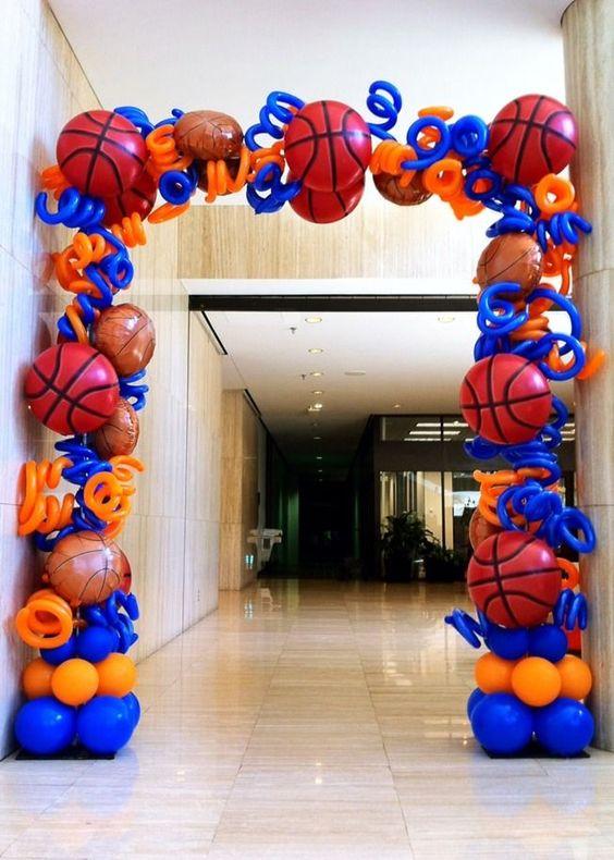 Арка из шаров Баскетбол