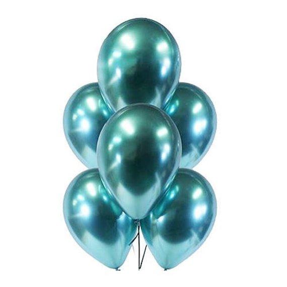 Гелиевые шары Зеленый, хром