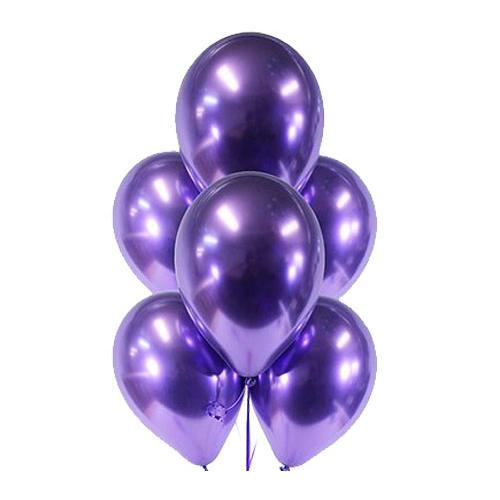 Гелиевые шары Фиолетовый, хром