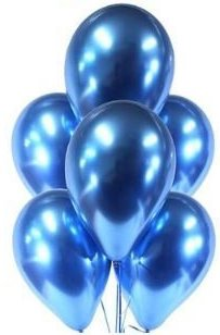 Гелиевые шары  Синий, хром