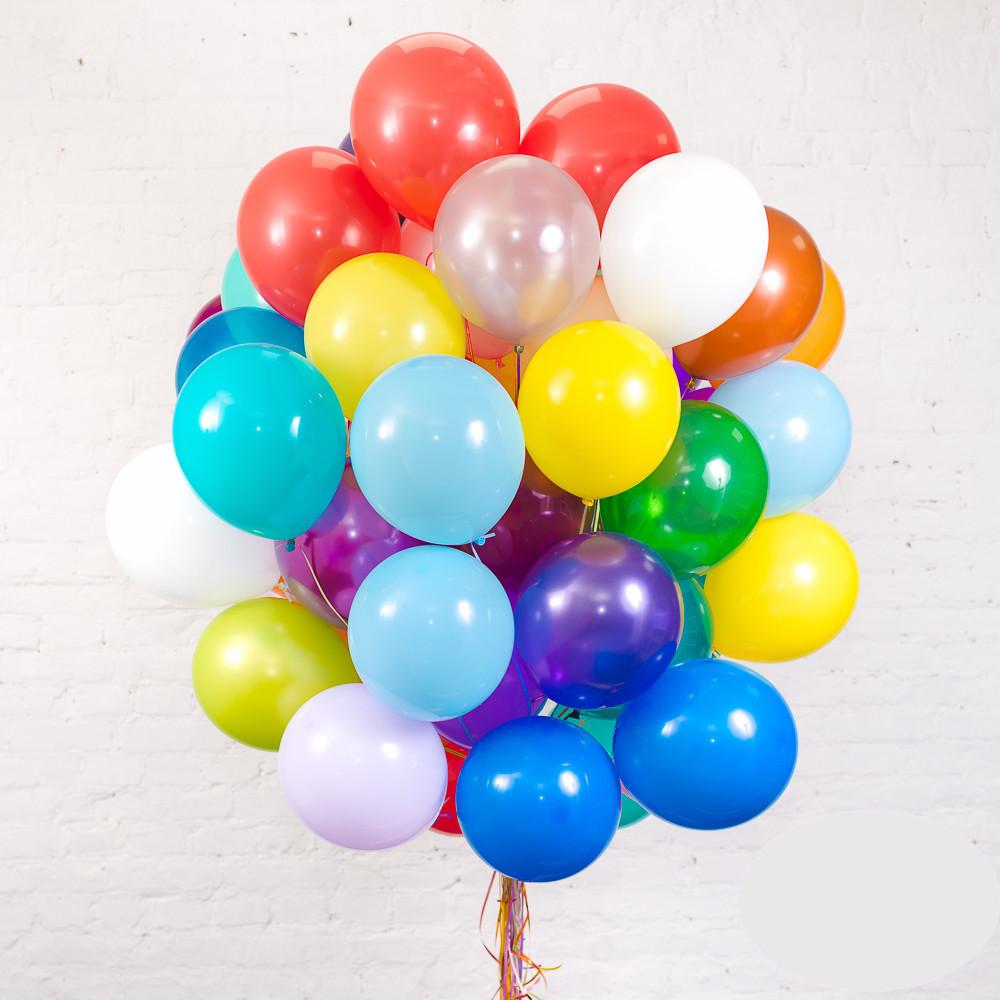 Букет облако из 30 разноцветных шаров