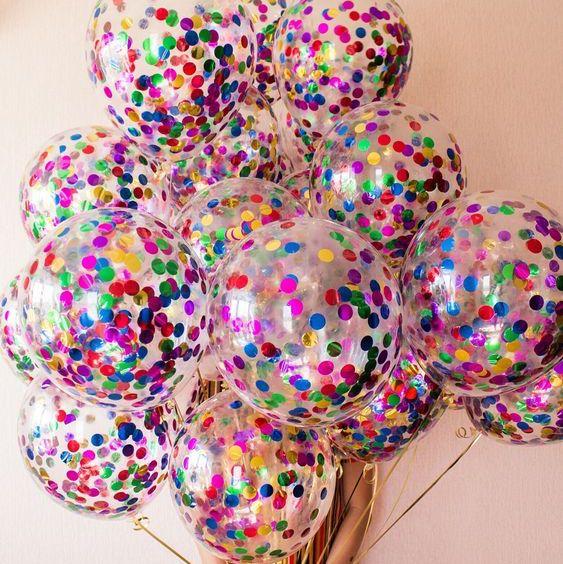 Прозрачные шары с конфетти для девушки