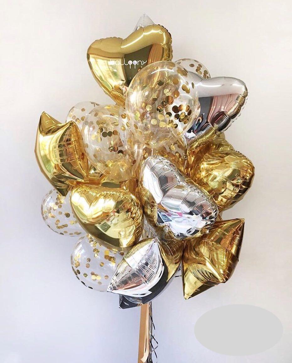 Букет «Золотой дождь» из 20 шаров