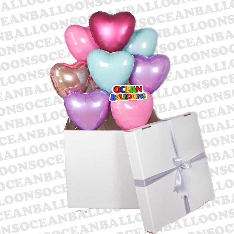 Коробка с 8 фольгироваными шарами