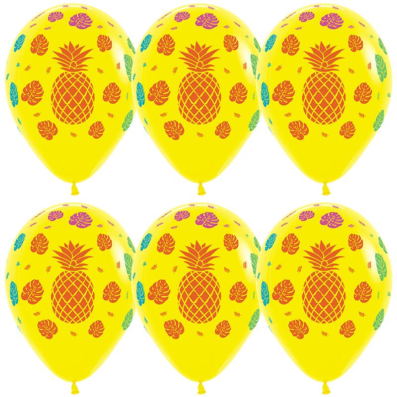 Воздушный шар Тропические растения, Желтый