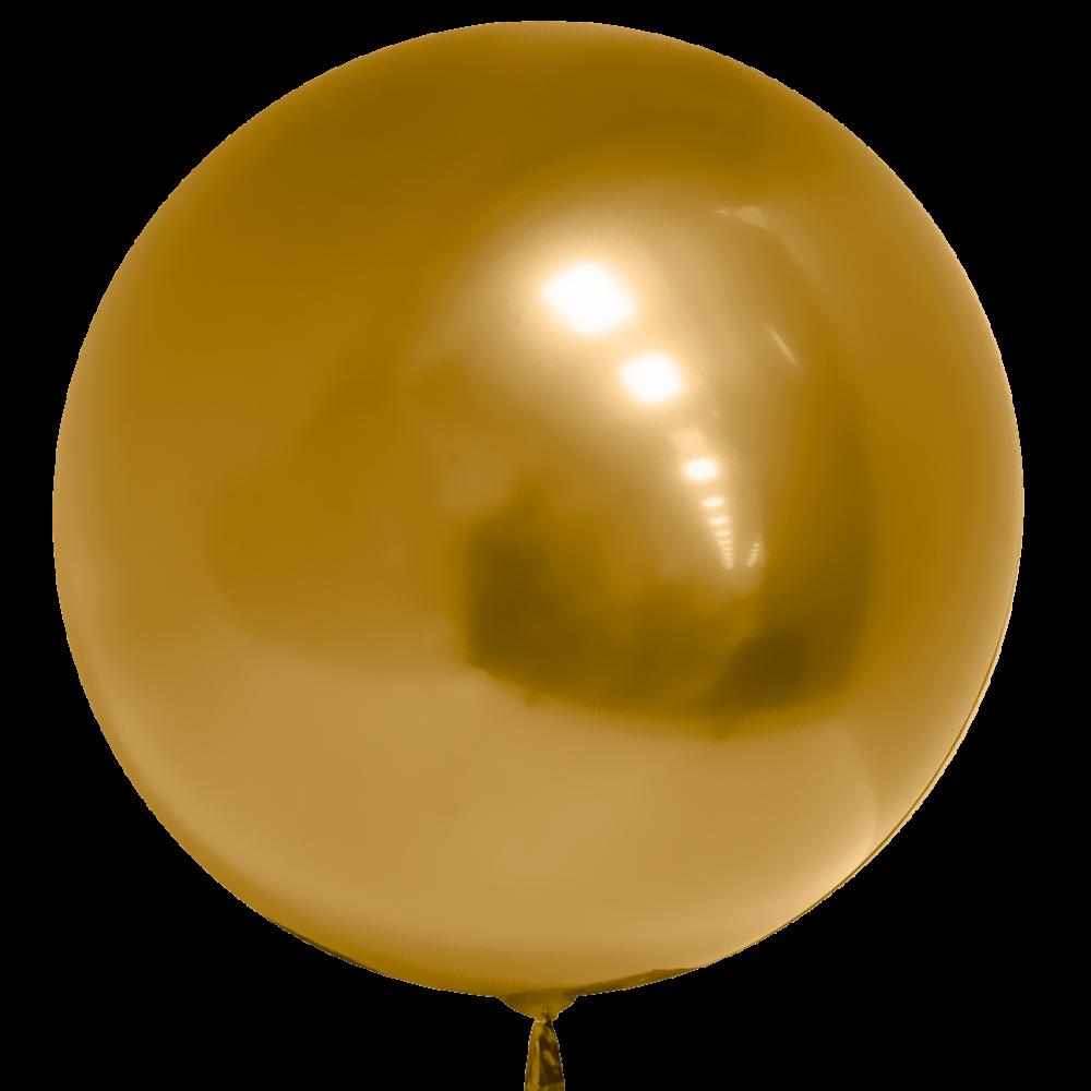 Шар Сфера 3D, Deco Bubble, Золото, Хром.