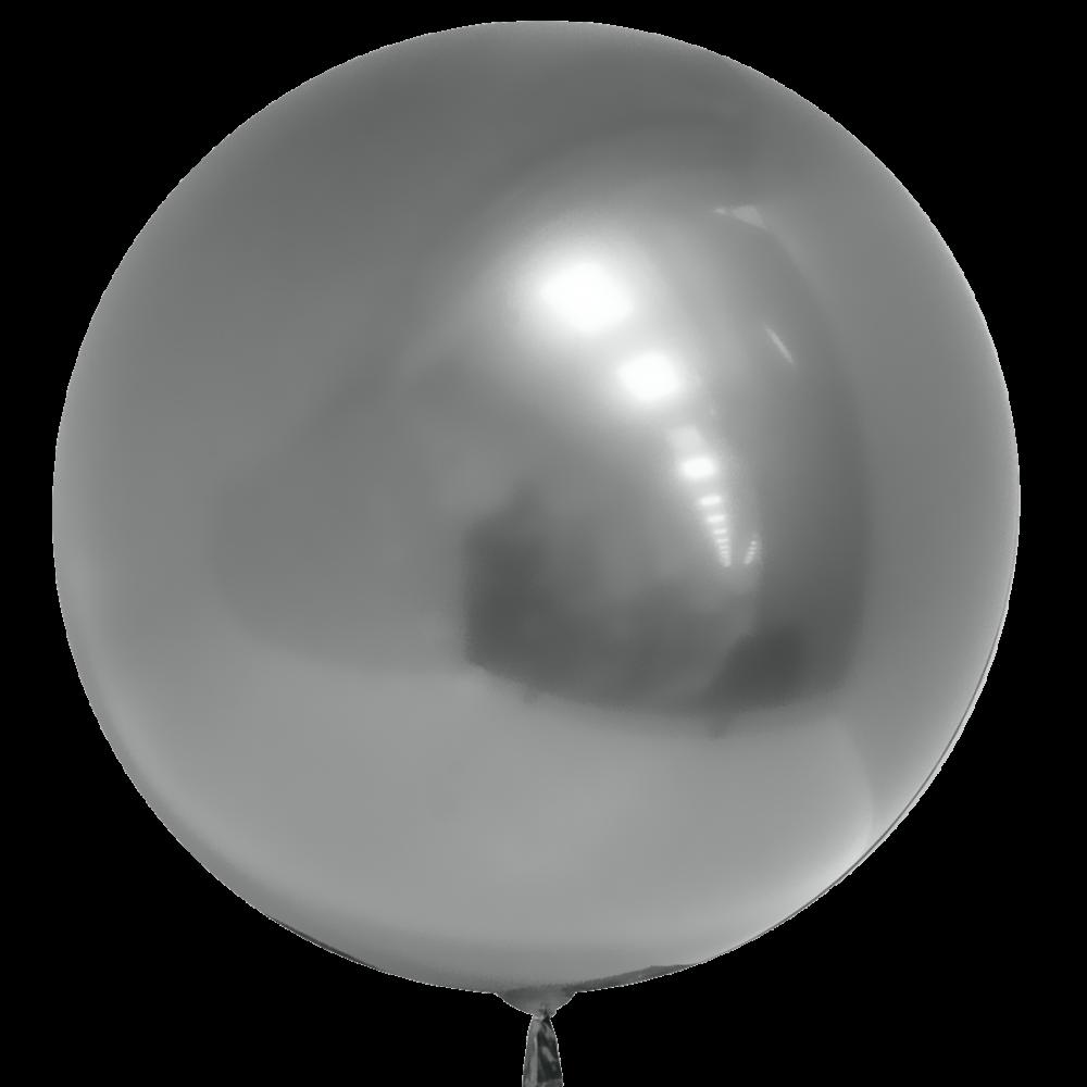 Шар  Сфера 3D, Deco Bubble, Серебро, Хром.