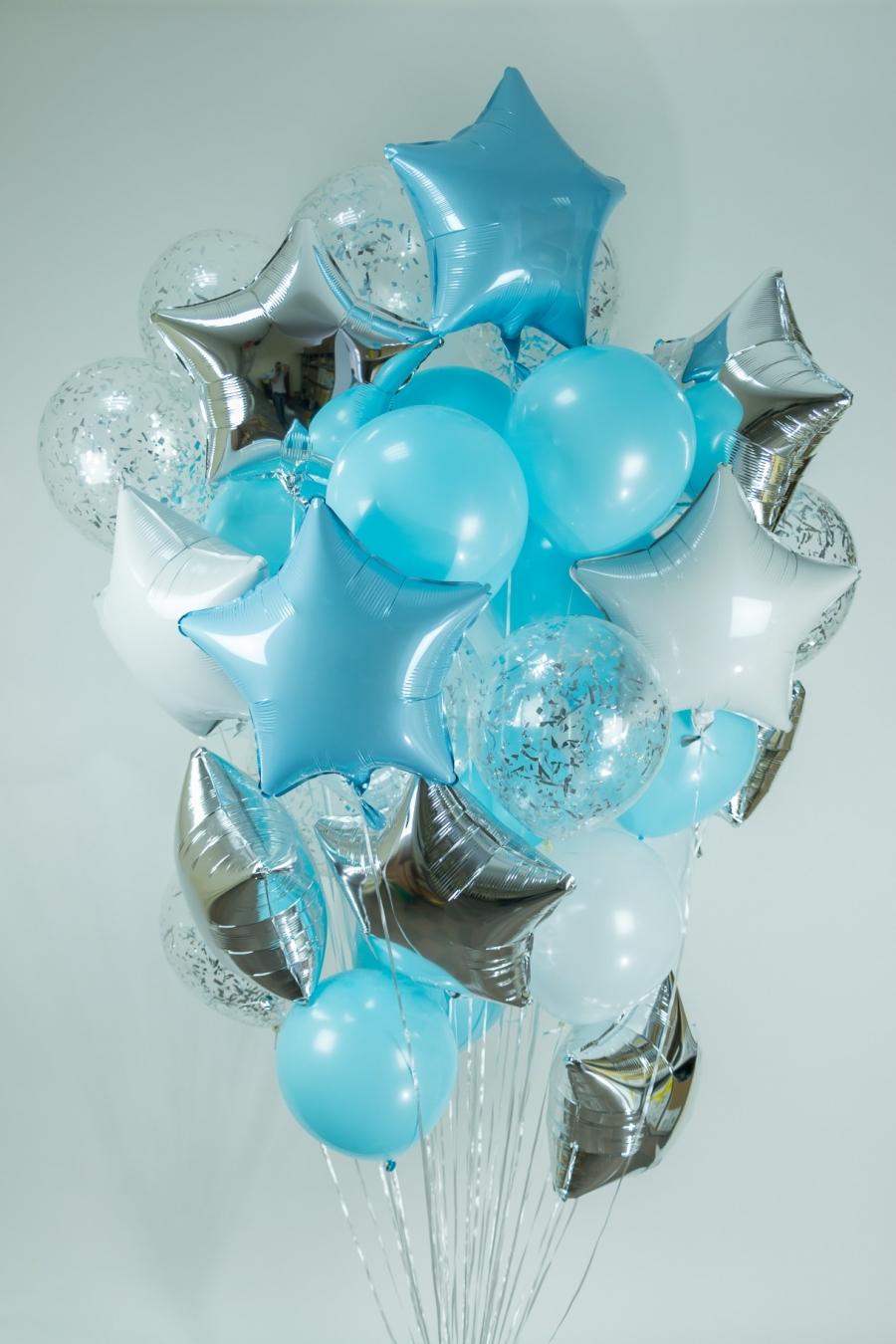 Букет «Звезды в небе» из воздушных шаров