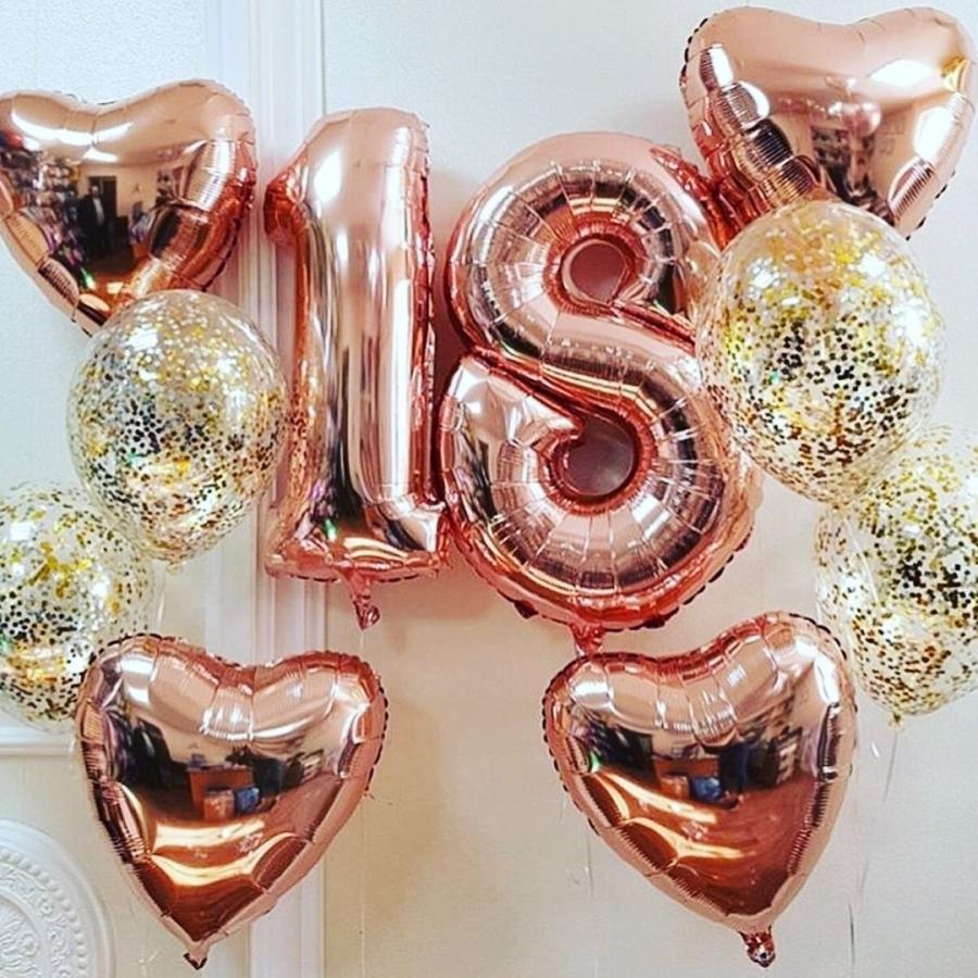 Готовое решение «Розовое золото» на 18 лет