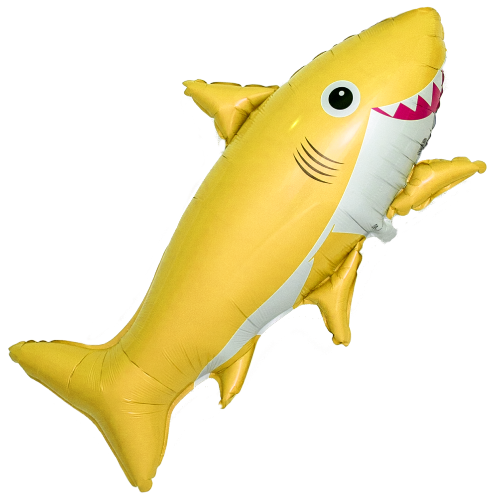 Шар Фигура, Счастливая акула, Желтый
