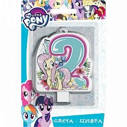 Свеча цифра 2 My Little Pony