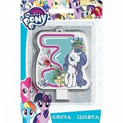 Свеча цифра 3 My Little Pony