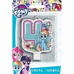 Свеча цифра 4 My Little Pony