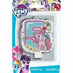 Свеча цифра 5 My Little Pony