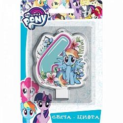 Свеча цифра 6 My Little Pony