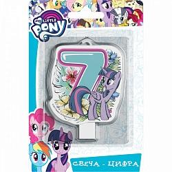 Свеча цифра 7 My Little Pony