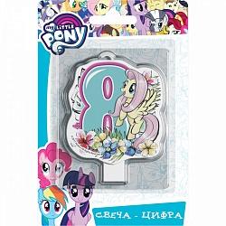 Свеча цифра 8 My Little Pony