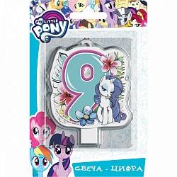 Свеча цифра 9 My Little Pony