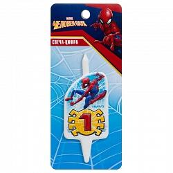 Свеча цифра 1 Человек-Паук