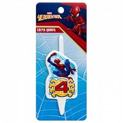 Свеча цифра 4 Человек-Паук