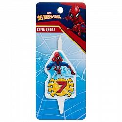 Свеча цифра 7 Человек-Паук