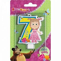 Свеча цифра 7 Маша и медведь