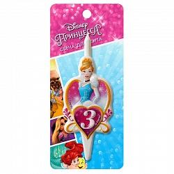 Свеча цифра 3 Принцессы Диснея