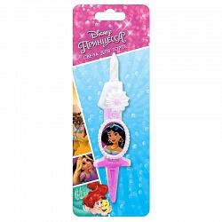 Свеча цифра 1 с принцессами Диснея